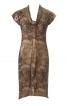 Сукня по фігурі з коміром-шарфом - фото 2