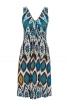Сукня приталена з драпіровкою на горловині - фото 2