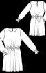 Сукня міні з куліскою на талії - фото 3