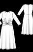Сукня трикотажна з віяловими складками - фото 3