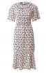 Сукня міді з вшивним поясом і рукавами-крильцями - фото 2