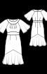Сукня міді з вшивним поясом і рукавами-крильцями - фото 3