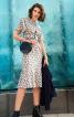 Сукня міді з вшивним поясом і рукавами-крильцями - фото 1