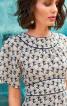 Сукня міді з вшивним поясом і рукавами-крильцями - фото 4