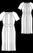Сукня приталеного крою з рукавами реглан - фото 3