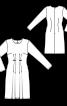 Сукня приталеного крою з м'якими складками - фото 3