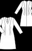 Сукня приталена з V-подібною горловиною - фото 3