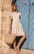 Сукня мереживна з рукавами-крильцями - фото 1