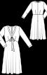 Сукня приталеного крою з V-подібним вирізом - фото 3
