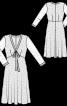 Сукня мереживна з V-подібним вирізом - фото 3