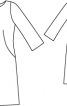 Сукня з рукавами 3/4 і вирізом горловини човником - фото 3