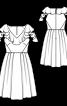 Сукня з воланами і пишною спідницею - фото 3