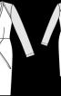 Сукня приталеного крою з імітацією запаху - фото 3