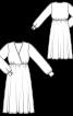 Сукня з ефектом запаху і зборкою на талії - фото 3