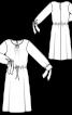 Сукня з довгими рукавами на широких манжетах - фото 3