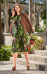 Сукня з довгими рукавами на широких манжетах - фото 1