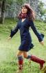 Сукня розкльошена з воланами - фото 1