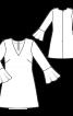 Сукня розкльошена з воланами - фото 3