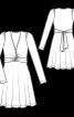 Сукня трикотажна з глибоким декольте - фото 3