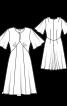 Сукня приталена з вирізом-крапелькою - фото 3