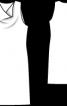 Сукня міні з хвилеподібним вирізом горловини - фото 3