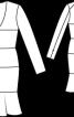 Сукня приталена з рельєфними швами - фото 3