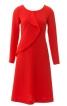 Сукня з рельєфними швами і воланом - фото 2