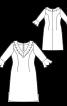 Сукня приталеного крою з рукавами 7/8 - фото 3