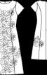 Сукня шерстяна з мереживним декором - фото 3