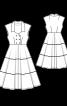 Сукня в морському стилі з Burda Moden 7/1950 - фото 3