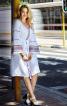 Сукня приталеного крою з оборками на рукавах - фото 1