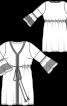Сукня приталеного крою з оборками на рукавах - фото 3