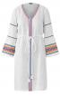 Сукня приталеного крою з оборками на рукавах - фото 2