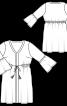 Сукня приталеного крою зі шнуром-зав'язкою - фото 3