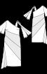 Сукня з косими рельєфними швами - фото 3