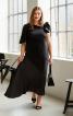 Сукня з косими рельєфними швами - фото 1