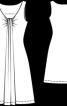 Сукня приталена з драпіровкою на горловині - фото 3