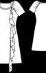 Сукня міні з настроченим воланом - фото 3