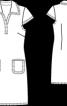 Сукня прямого крою із коміром поло - фото 3