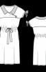 Сукня приталеного силуету з відкладним коміром - фото 3