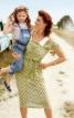 Сукня приталеного силуету з відкладним коміром - фото 1