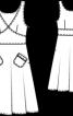 Сукня приталена з фігурним поясом - фото 3