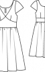 Сукня з фігурною планкою на талії - фото 3