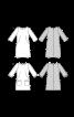 Сукня міні приталеного силуету з косими виточками - фото 3