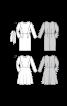 Сукня-футляр з призбореними по окатах рукавами - фото 3