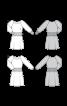 Сукня з широким трикотажним поясом - фото 3