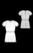 Платье простого кроя с рукавами-фонариками - фото 3