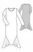 Сукня максі трикотажна із вшивними клинами - фото 3