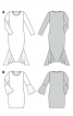Сукня з в'язаного полотна з воланами на рукавах - фото 6