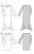 Сукня максі трикотажна із вшивними клинами - фото 6
